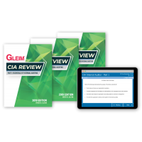 Gleim CIA Book Set and Test Bank 2019