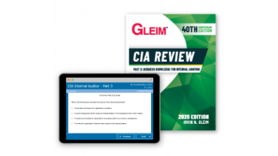 Gleim CIA Part3 Book and Test Bank 2020