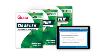 Gleim CIA Part 1-2-3 Book Set and Test Bank 2020