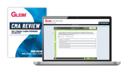 Gleim CMA Part1 Book and Mega Test Bank 2020